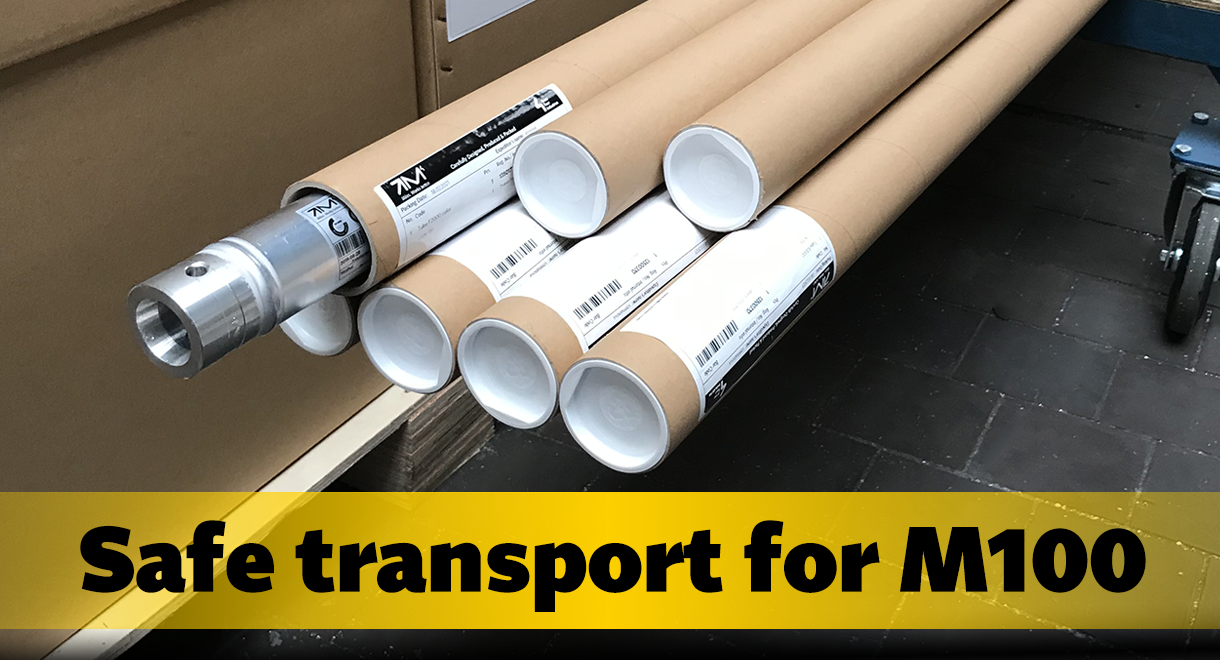 New transport packaging for M100
