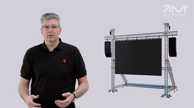 MILOS LED Screen Support Structures - Safe Use
